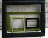 Altered Vintage Frame Collection with Large Gesso Frame