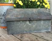 Very Vintage Galvanized Metal Mail Box
