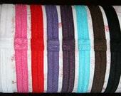 SALE Shimmer Elastic Headband Choose Your Color