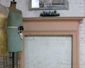 Vinatge Original Chippy Paint Pink One of a Kind Fireplace Mantel  VF101