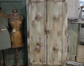 RESERVED FOR ANNETTE Vintage Painted Cottage Chic Anthropologie Looking Armoire  AM109