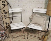 Painted Cottage Chic Shabby White French Farmhouse Chairs CH221