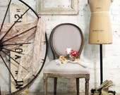 Painted Cottage Chic Shabby Farmhouse Chair CH221