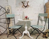 Painted Cottage Chic Shabby Aqua Farmhouse Chair CHR225
