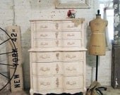 Painted Cottage Chic Shabby Pale Pink French Dresser CH318