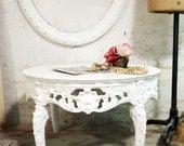 Painted Cottage Chic Shabby White Romantic French Coffee Table CFT234