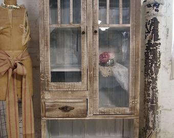 Painted Cottage Shabby Handmade Farmhouse Cabinet FH202