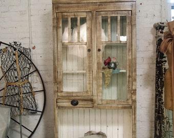 Painted Cottage Handmade Farmhouse Bookcase / China Cabinet CC274