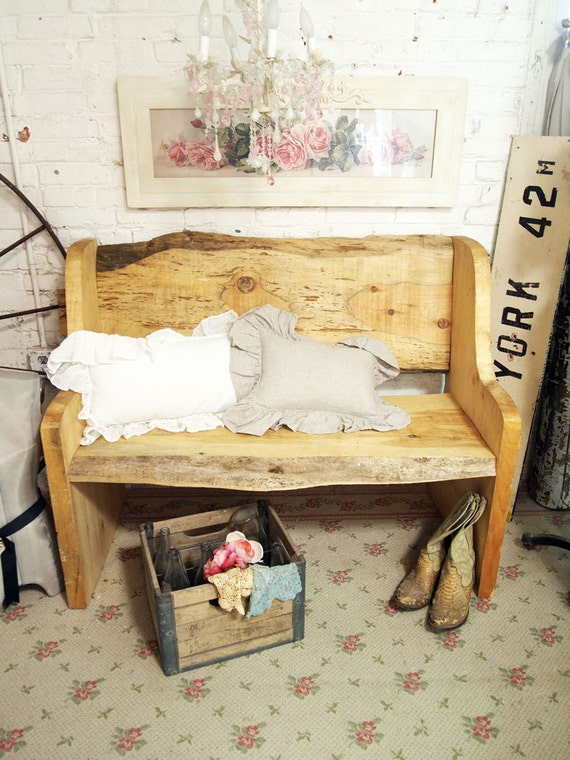 Painted Cottage One of A Kind  Farmhouse Pine Bench BCH201