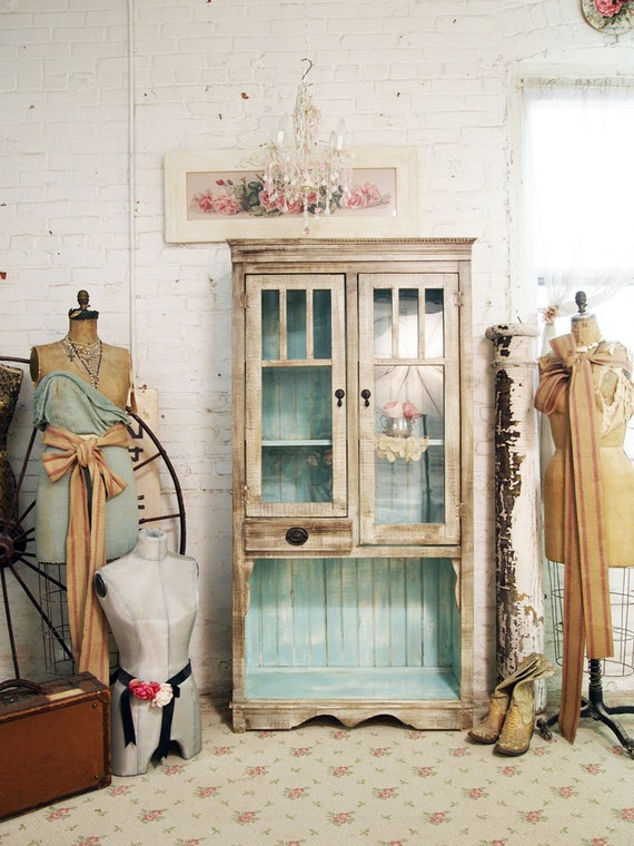 Painted Cottage One of A Kind  Farmhouse Cabinet CC280
