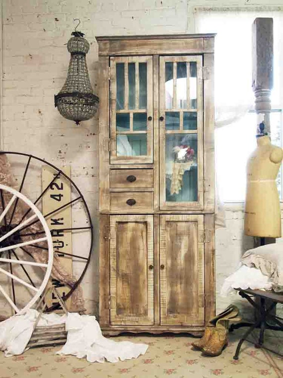 Painted Cottage Chic Shabby Farmhouse Cabinet CC321