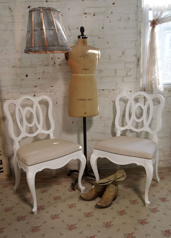 Painted Cottage Chic Shabby Romantic French Chair CHR229