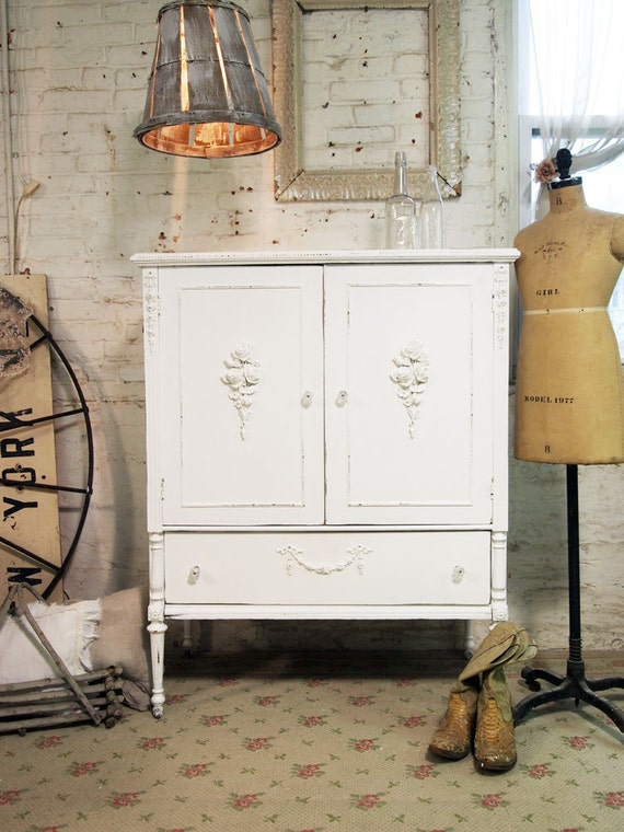 Painted Cottage Chic Shabby One of A Kind Romantic Dresser CH330