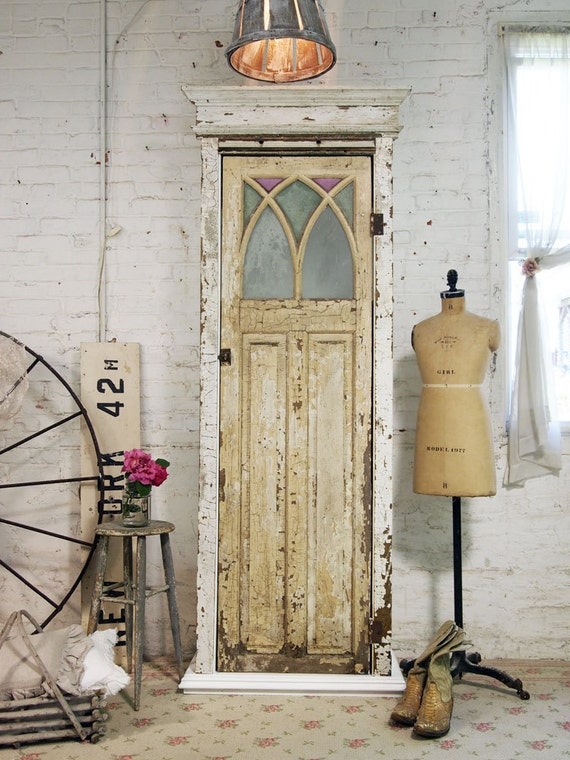 Painted Cottage Chic Shabby Hand Made Farmhouse Cabinet CC336