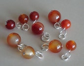 Carnelian Dangle Charms (Set of 3)