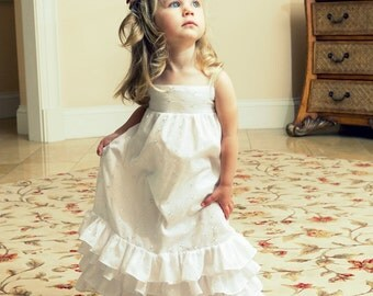 White Eyelet Ruffle Dress