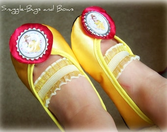 Princess Belle Play Shoes (Toddler Sizes 6 - 12) MEASURE your child's foot PLEASE