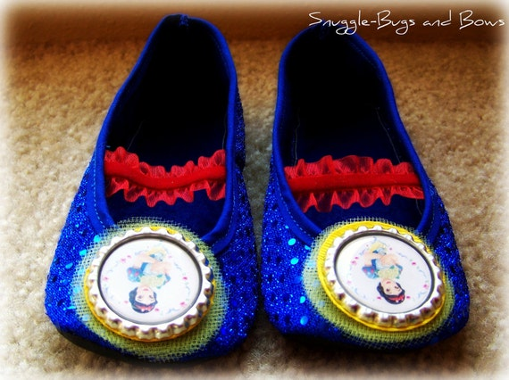 Snow White BABY Play Shoes (Sizes 1 - 5) MEASURE your child's foot PLEASE