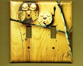 Save the Owls Double Switch Plate cover