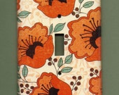 Orange Poppies Switchplate cover