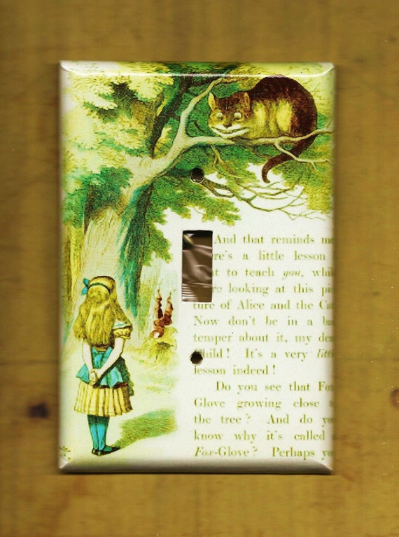 Alice in Wonderland Switchplate cover