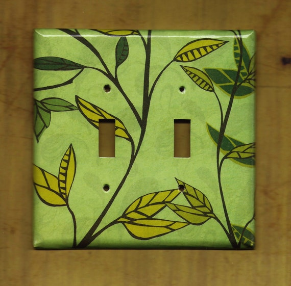 Green Ivy Double Switchplate cover