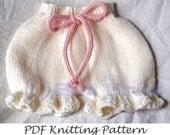 PDF Butt Knits Bloomers/Pantaloons Knitting Pattern