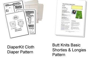 PDF Pattern Bundle - Cloth Diaper and Butt Knits Longies/Shorties