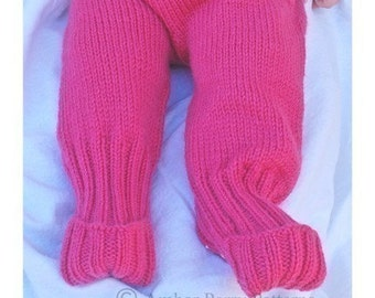 PDF Pattern - Butt Knits Basic Longies/Shorties PLUS Foots Pattern Bundle
