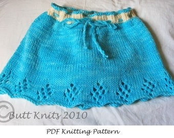 PDF Pattern - Butt Knits Skirt Pattern and Tutorial