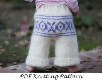PDF Knitting Pattern - Butt Knits Ski Pants Longies