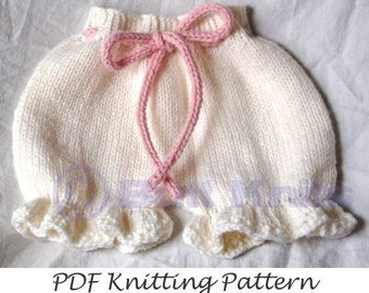 PDF Butt Knits Bloomers/Pantaloons Knitting Pattern
