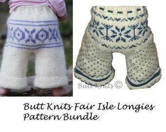 Butt Knits Pattern Bundle - Fair Isle Duo