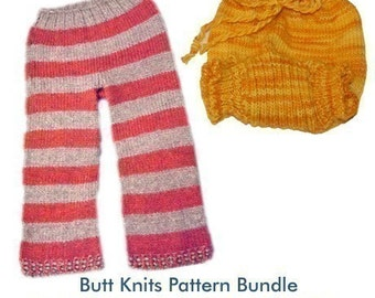 Pattern Bundle - Butt Knits Basic Longies and Traditional Soaker