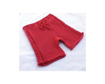 PDF Knitting Pattern - Butt Knits Braided Longies/Shorties