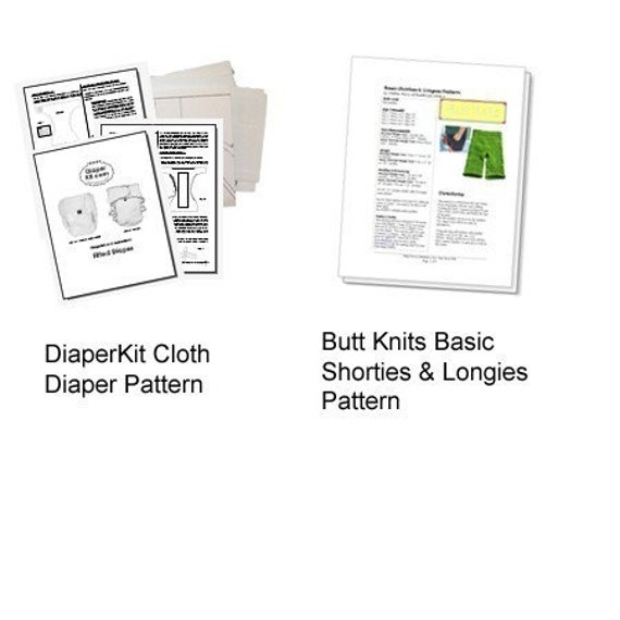 PDF Pattern Bundle - Cloth Diaper and Butt Knits Longies/Shorties