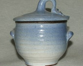 Blue Bowl with Decorative Lid.  Has many uses such as sugar bowl, candy bowl or can be used for jewelry storage
