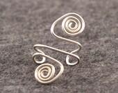 Sterling Silver Spiral Ear Cuff