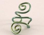 Green Niobium Spiral Ear Cuff