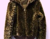 Vintage 80's Leopard Foux fur Coat