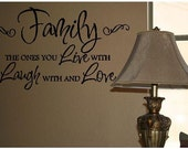 Quote-Family the Ones You Live With Laugh With and Love-special buy any 2 quotes and get a 3rd quote free of equal or lesser value