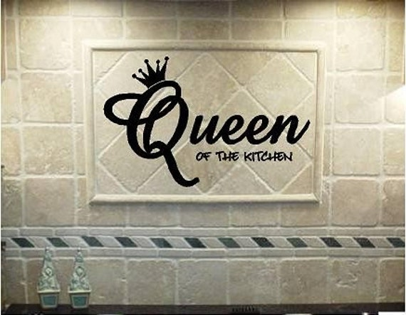 Vinyl Quote-Queen of the kitchen-special buy 2 get 1 free of equal or lesser value