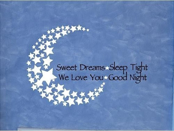 items similar to vinyl quote sweet dreams sleep tight we