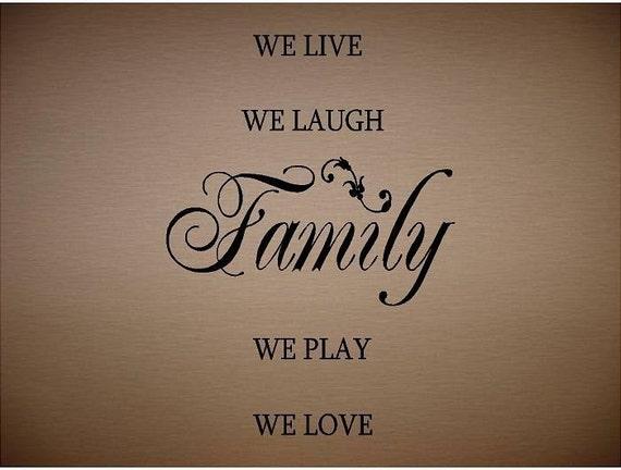Live Love Laugh Quotes: Items Similar To VINYL QUOTE
