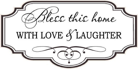 Items Similar To Quote-Bless This Home With Love And