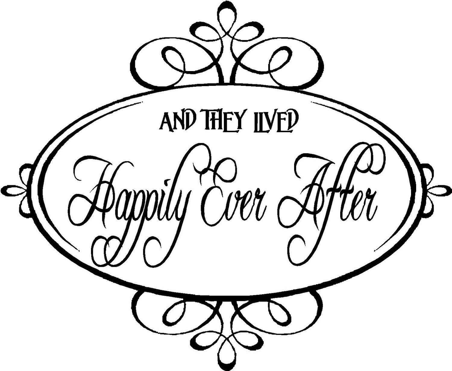 quote and they lived happily ever after special by vinylforall