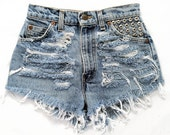 Orion short studded cut off shorts