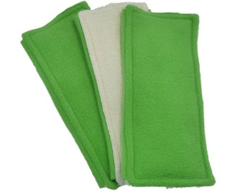 3 FLEECE & TERRY Double Sided Reusable Swiffer Pads, Backyard Green or Mix it Up, EcoGreen Pads, washable Swiffer Sweeper pads, eco-friendly