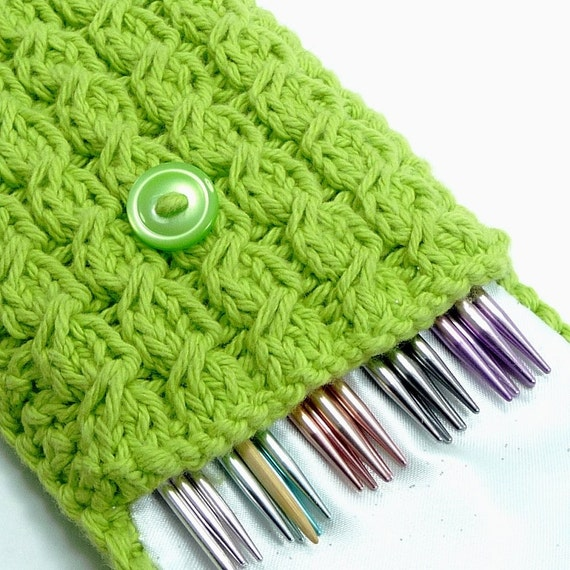 Knitting Pattern Needle Holder : Knitting Needle Holder Double Pointed Needles by EcoGreenPads