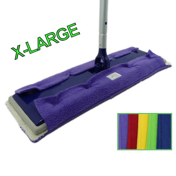 """3 EXTRA LARGE Pads for 17"""" Swiffer, Big XL, Max, Professional, & Heavy Duty size pads, Double Sided Fleece Terry Cloth, BiG Swiffer Mops"""